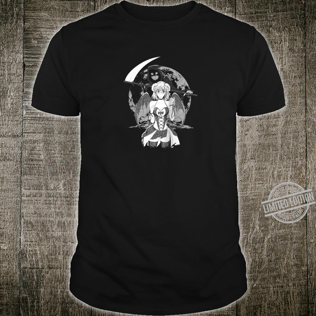 Creepy Anime Girl Sad Aesthetic Horror Nu Goth Shirt