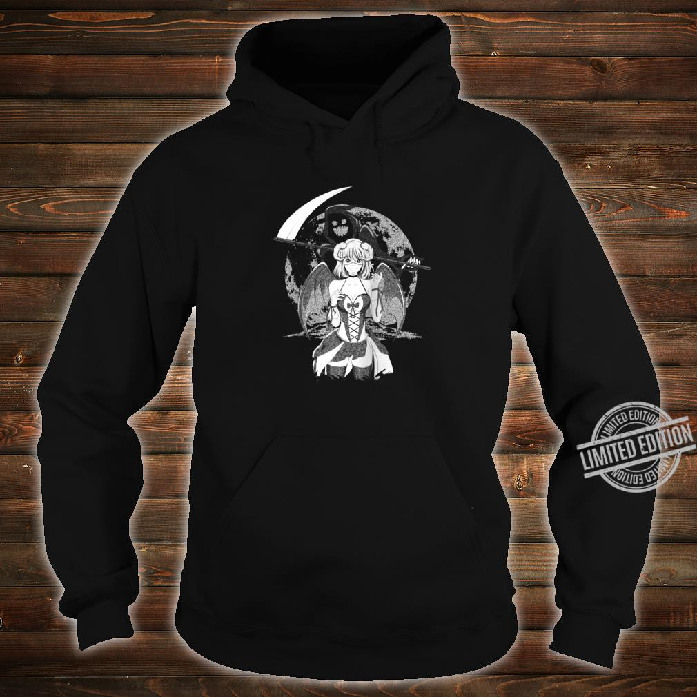 Creepy Anime Girl Sad Aesthetic Horror Nu Goth Shirt hoodie