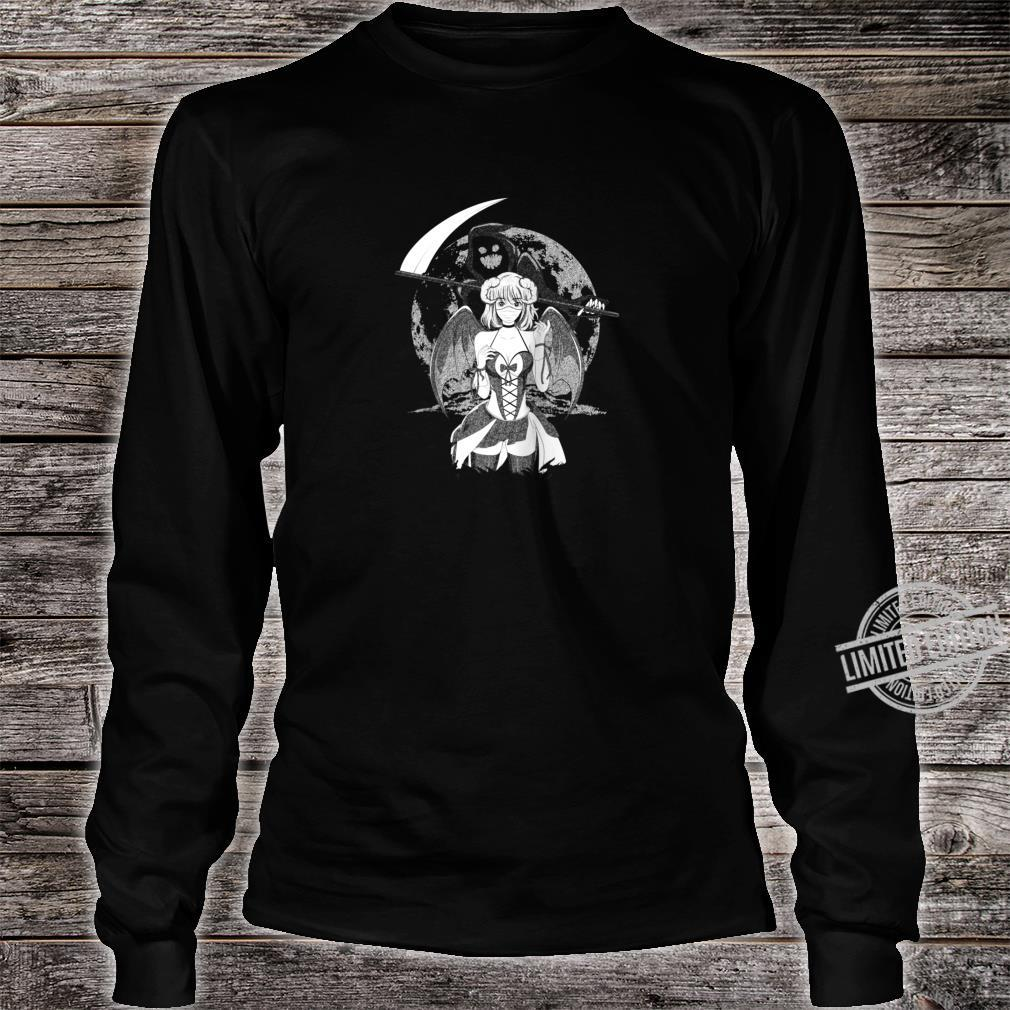 Creepy Anime Girl Sad Aesthetic Horror Nu Goth Shirt long sleeved