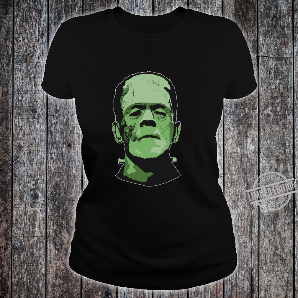 Creepy Halloween Frankenstein Monster Face Shirt ladies tee