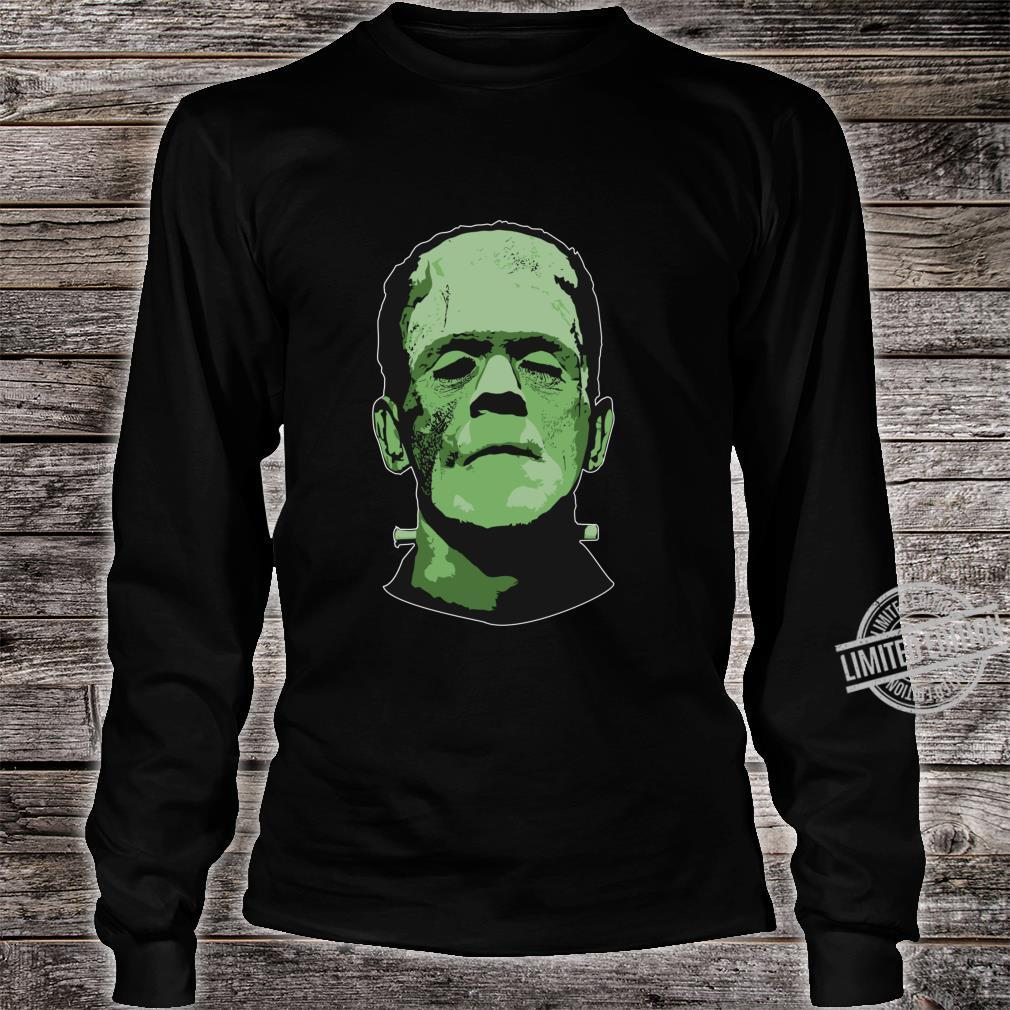 Creepy Halloween Frankenstein Monster Face Shirt long sleeved