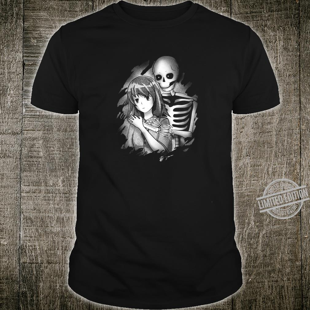 Creepy Japanese Anime Girl Sad Aesthetic Shirt