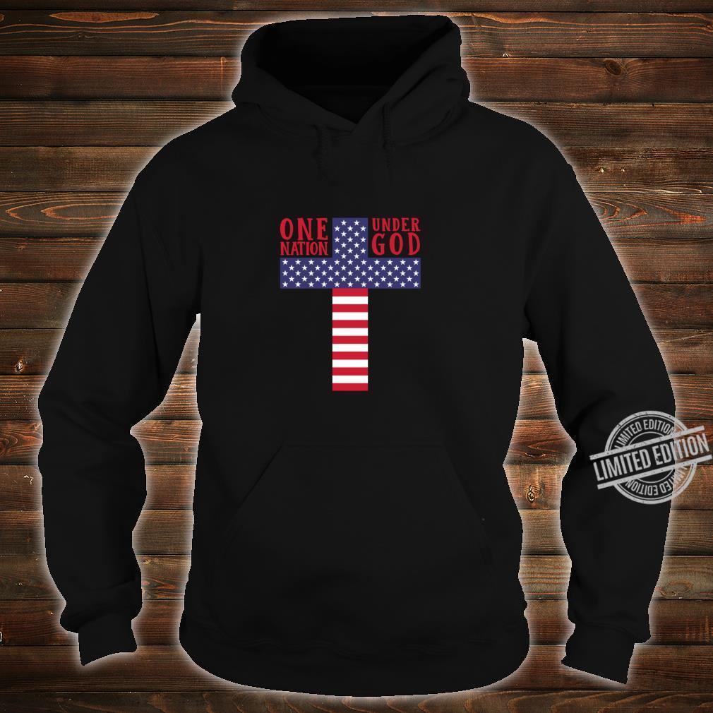 Cross American Flag One Nation Under God Stars & Stripes Shirt hoodie