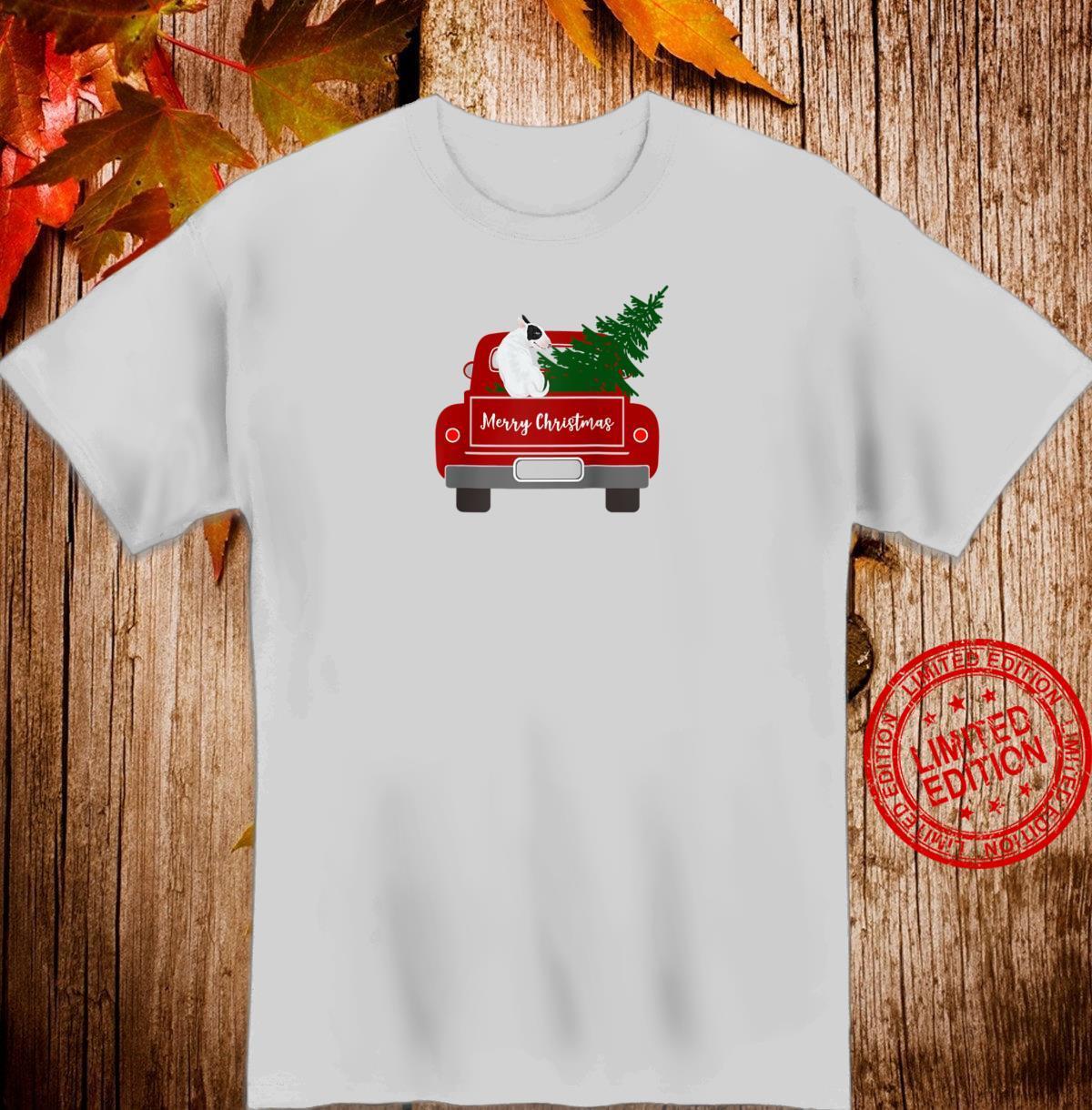 Cute Bull Terrier Retro Christmas Shirt
