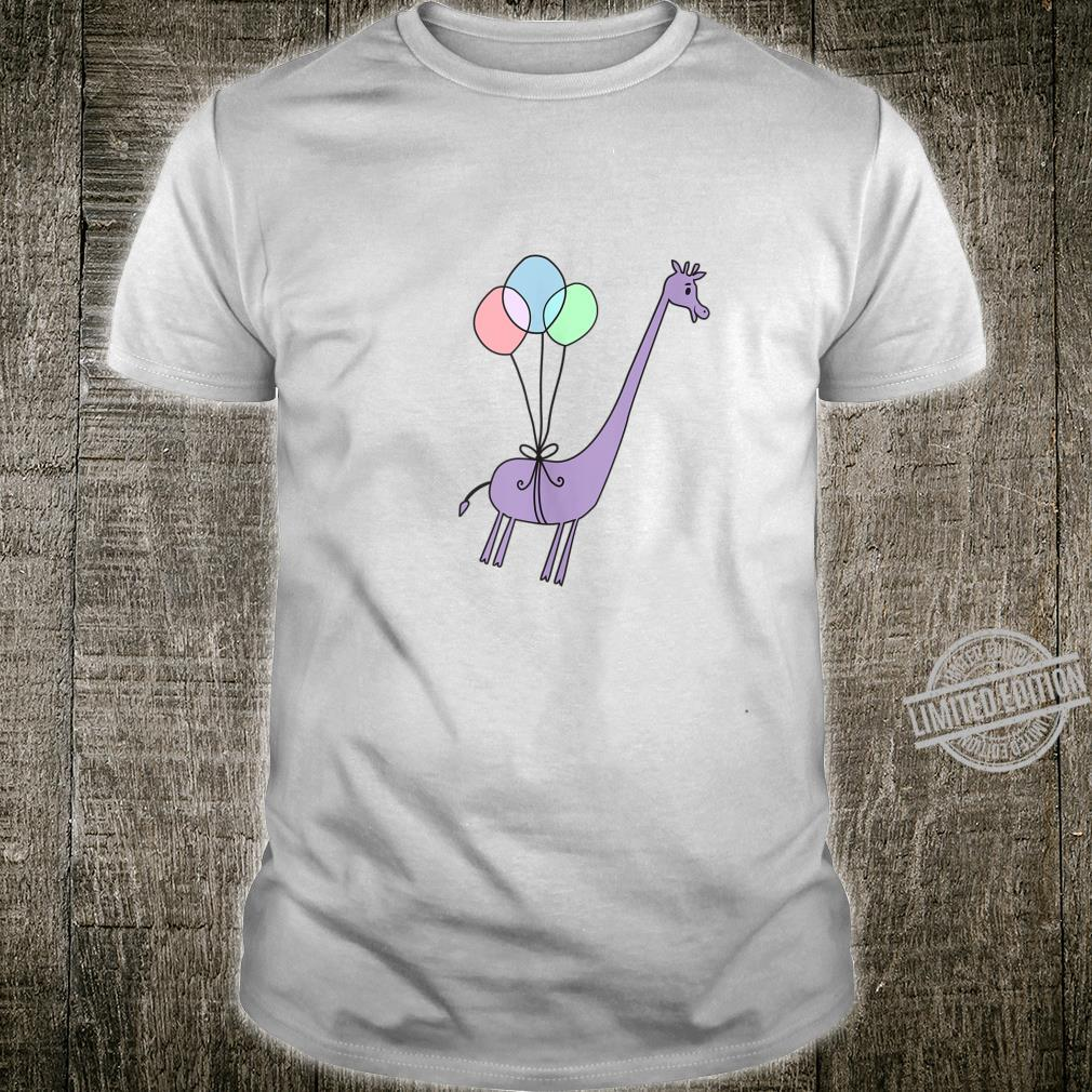 Cute Giraffe Balloons Floating Away Shirt