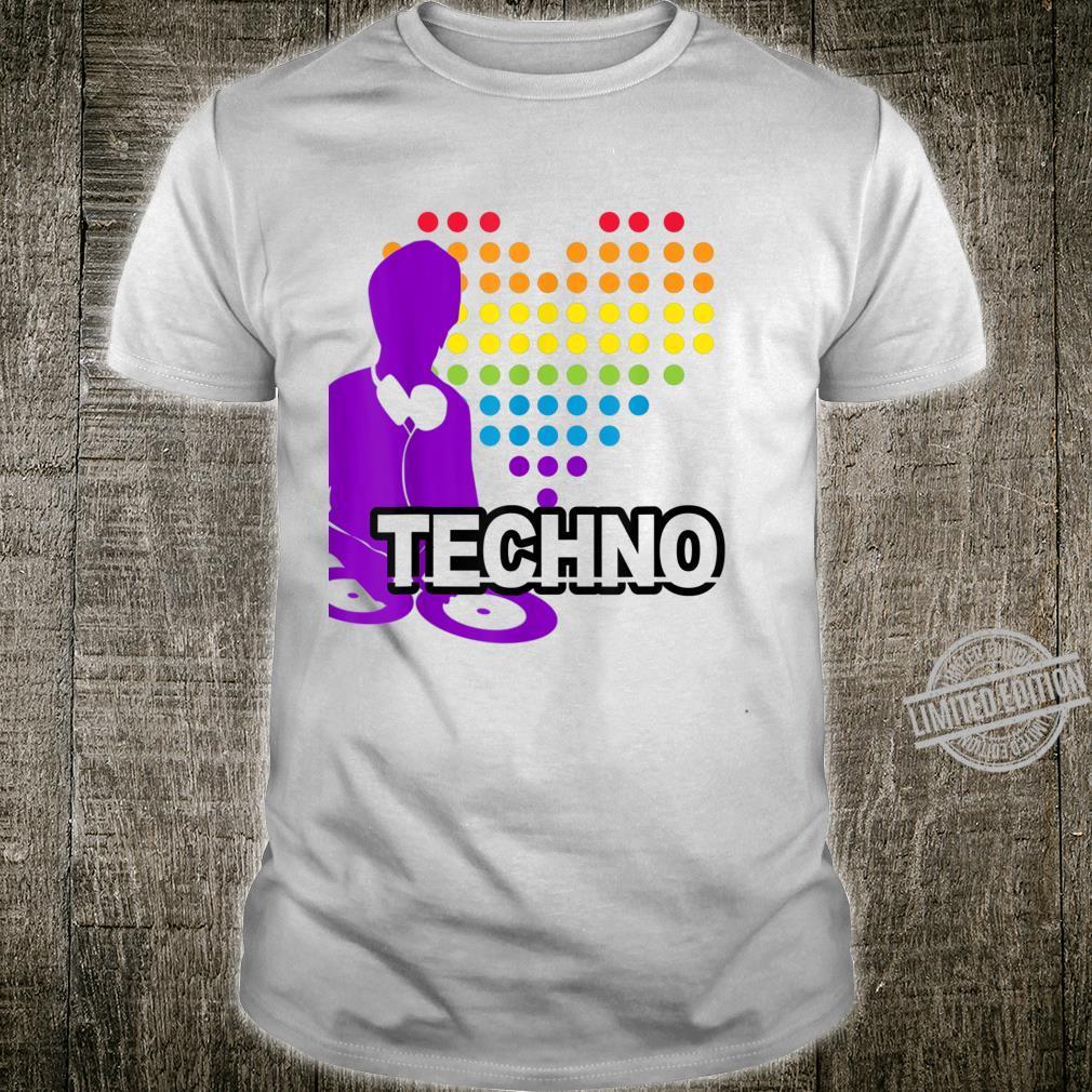 DJ with Turntable big heart, Techno and house Shirt