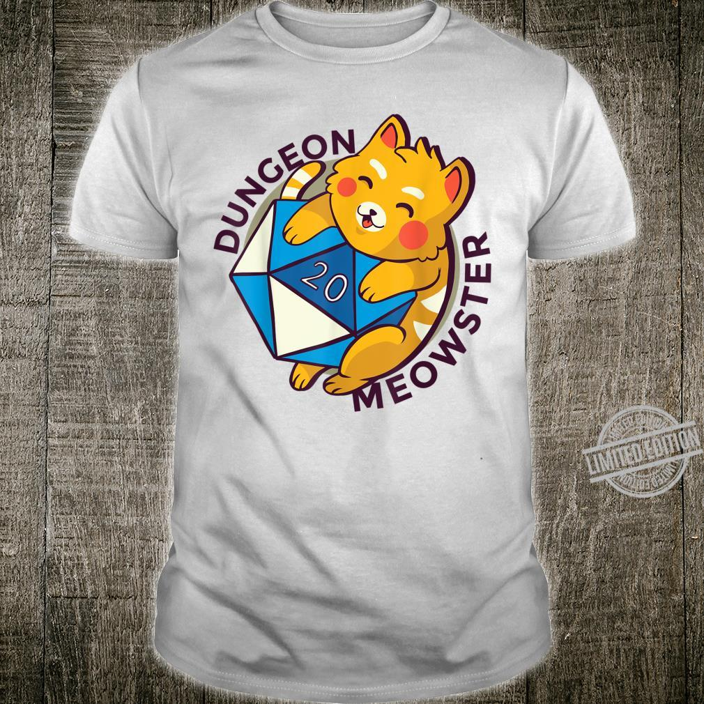 DUNGEON MEOWSTER Nerdy Gamer RPG Cat Shirt