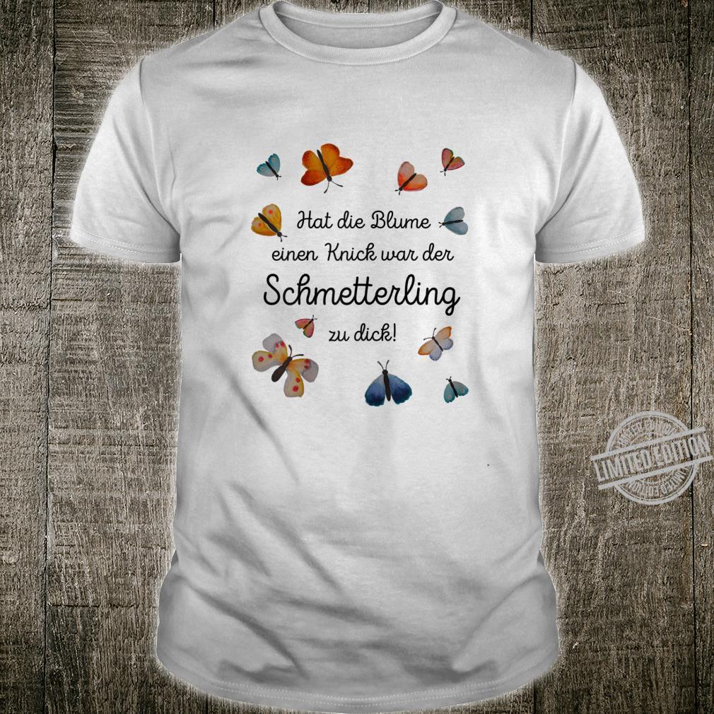Damen Spruch Lustig Frühling Schwanger Schmetterling Damen Shirt