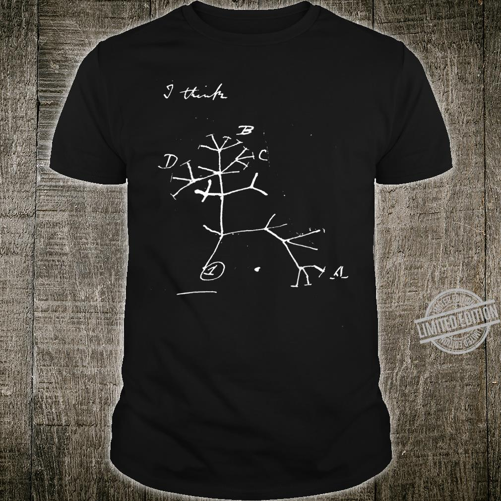 Darwin tree of life evolution science shirt Biology Nerdy Shirt