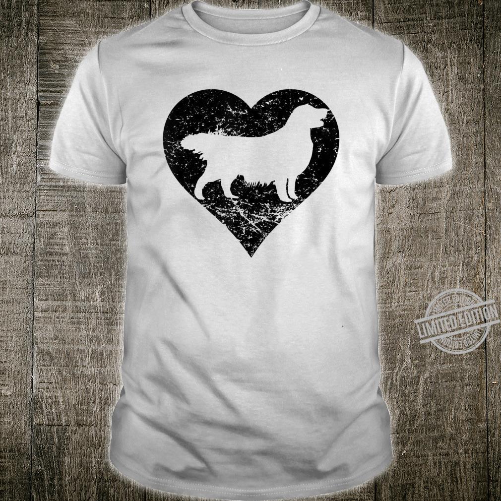 Distressed Golden Retriever Heart Dog Owner Shirt