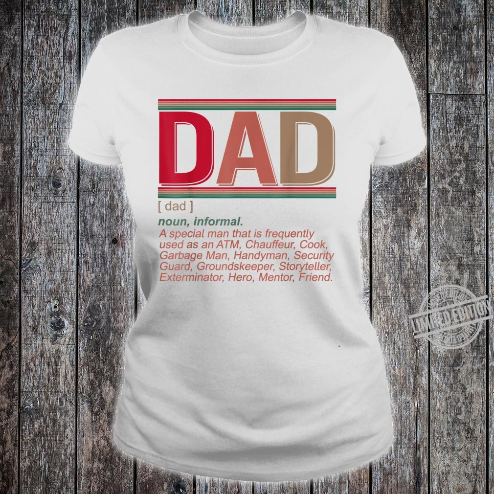 Father's Day Dad Definition Hilarious Vintage Shirt ladies tee