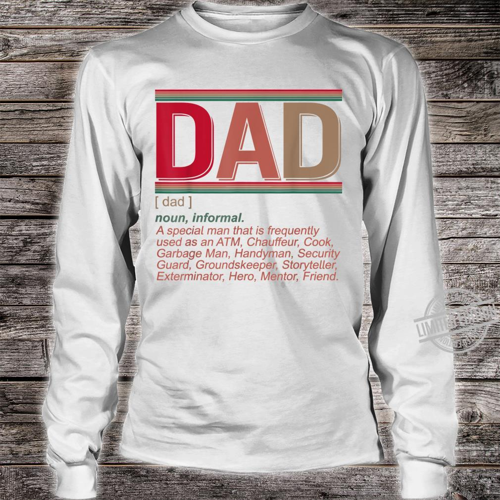 Father's Day Dad Definition Hilarious Vintage Shirt long sleeved