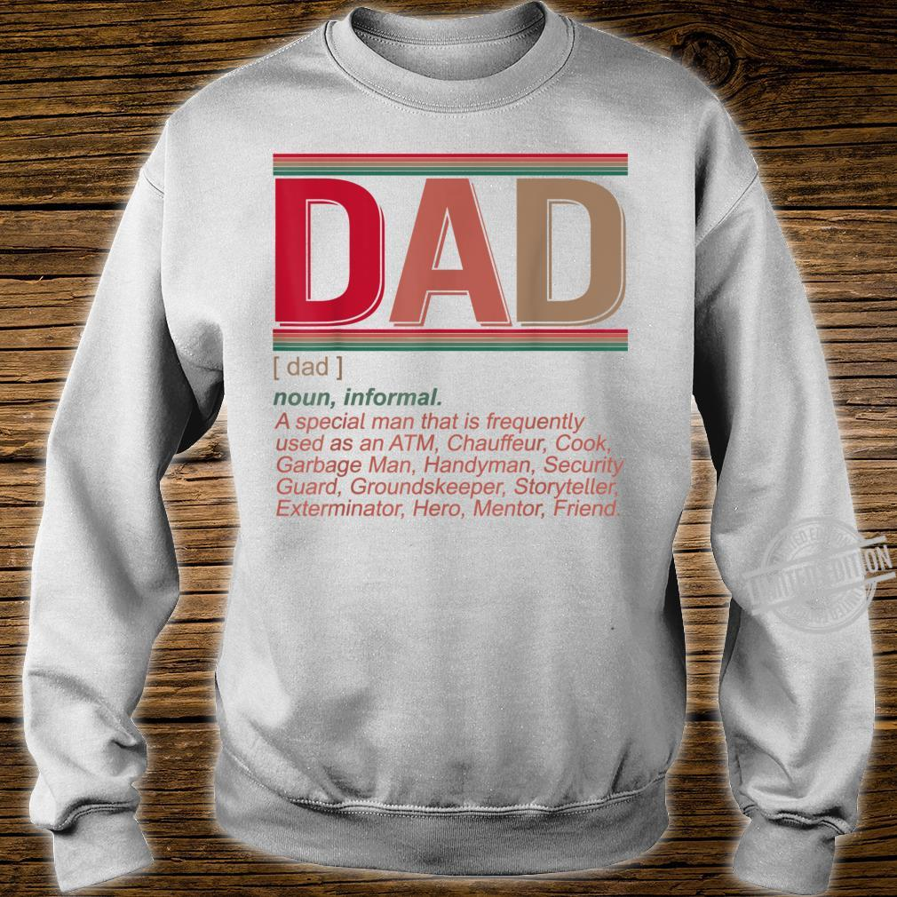 Father's Day Dad Definition Hilarious Vintage Shirt sweater