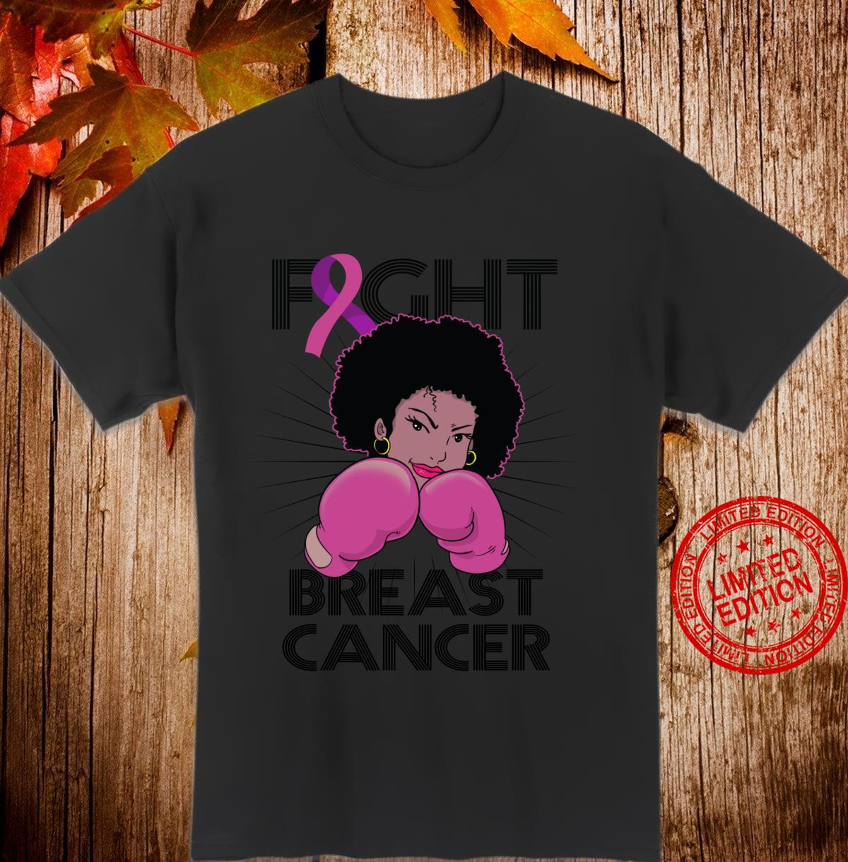 Fight Breast Cancer Awareness Month Black Shirt