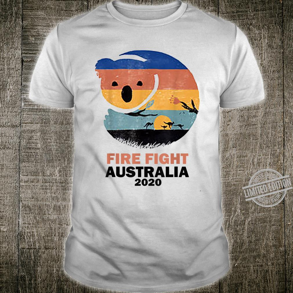 Fire Fight Australia 2020 Retro Vintage Sunset Shirt
