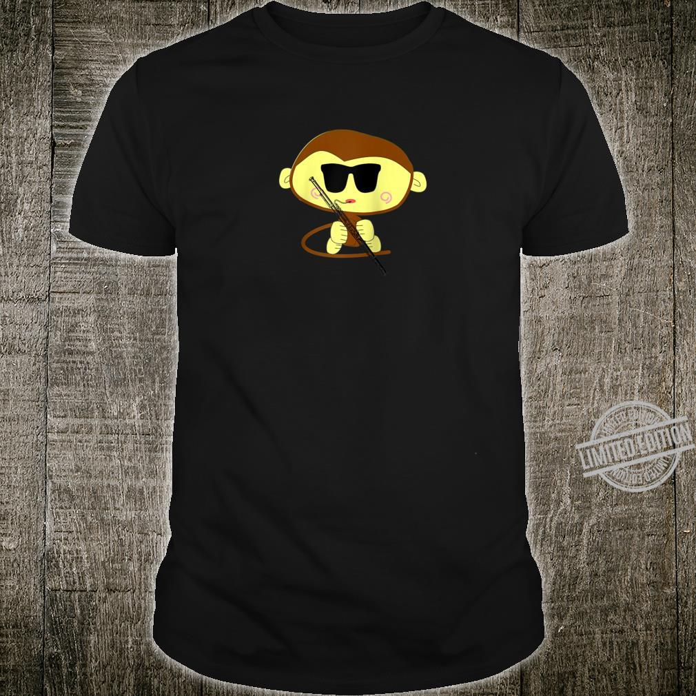 Funny Monkey Wearing Sunglasses Playing Bassoon Shirt