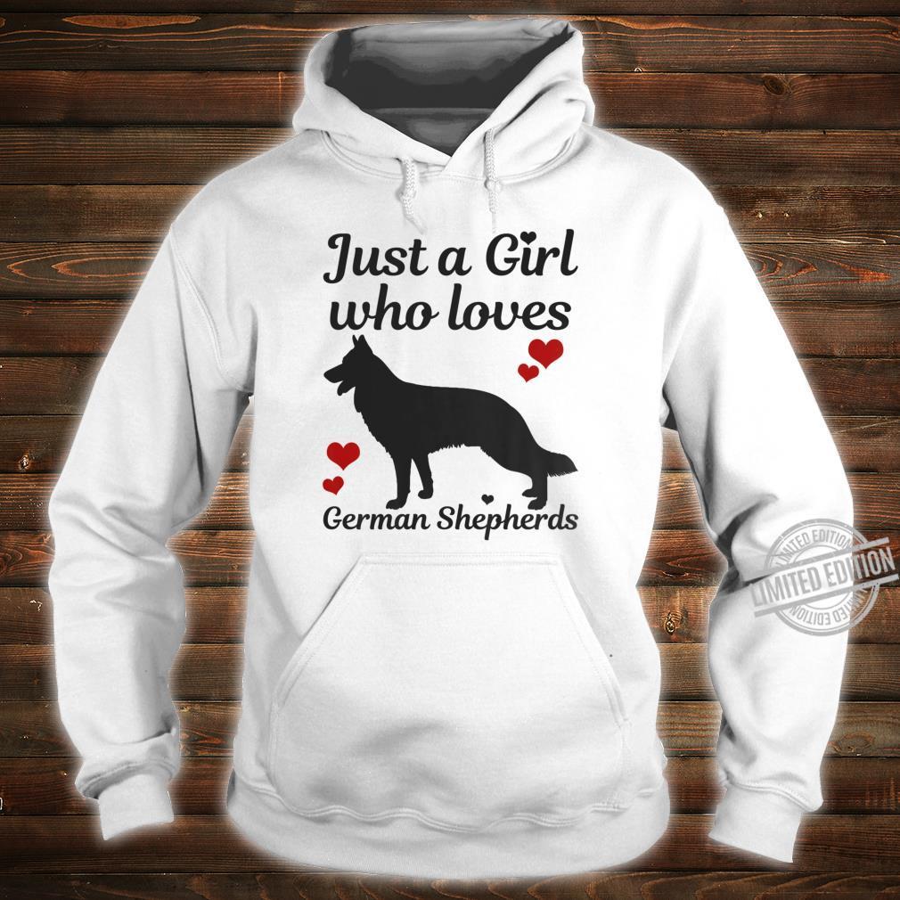 German Shepherd Dog Just A Girl Who Loves Dogs Shirt hoodie