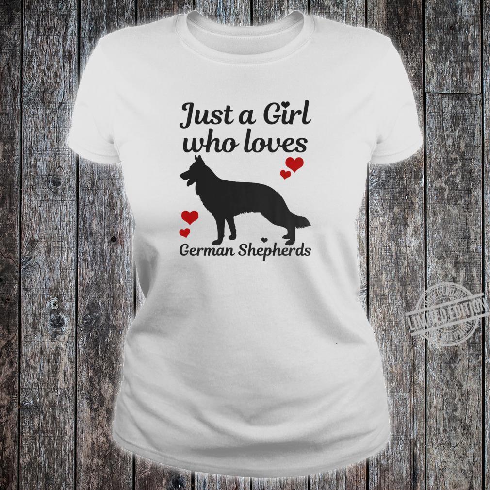 German Shepherd Dog Just A Girl Who Loves Dogs Shirt ladies tee