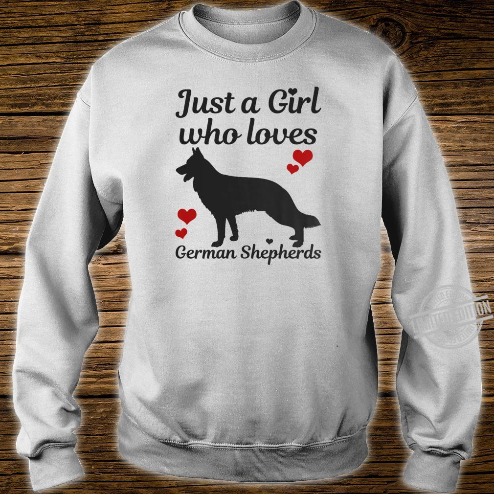 German Shepherd Dog Just A Girl Who Loves Dogs Shirt sweater
