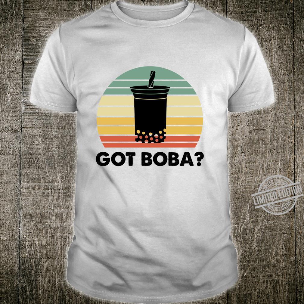 Got Boba Drink Lebensmittel Geschenk Retro Bubble Tea Foodie Langarmshirt Shirt