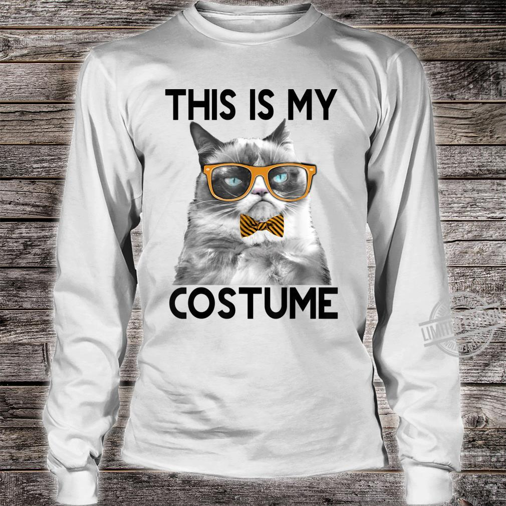 Grumpy Cat Halloween This Is My Costume Bowtie Shirt long sleeved