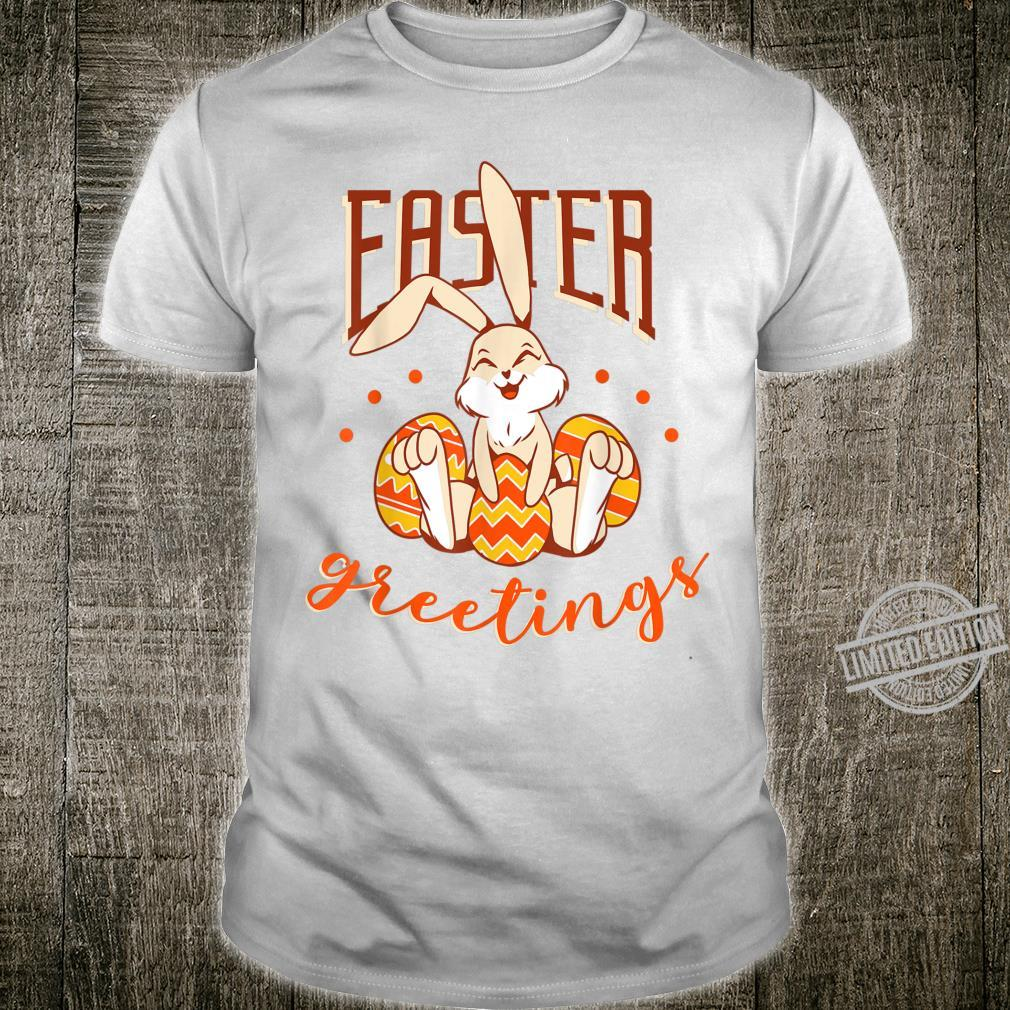 Happy Easter Day Cute Easter Greetings Bunny Egg Hunt Shirt