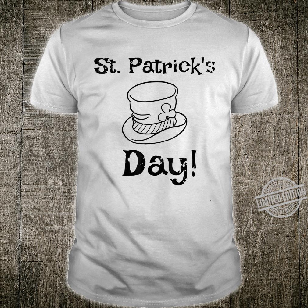 Happy Saint Patricks Day Shamrocks 2020 Green Leprechaun Hat Shirt