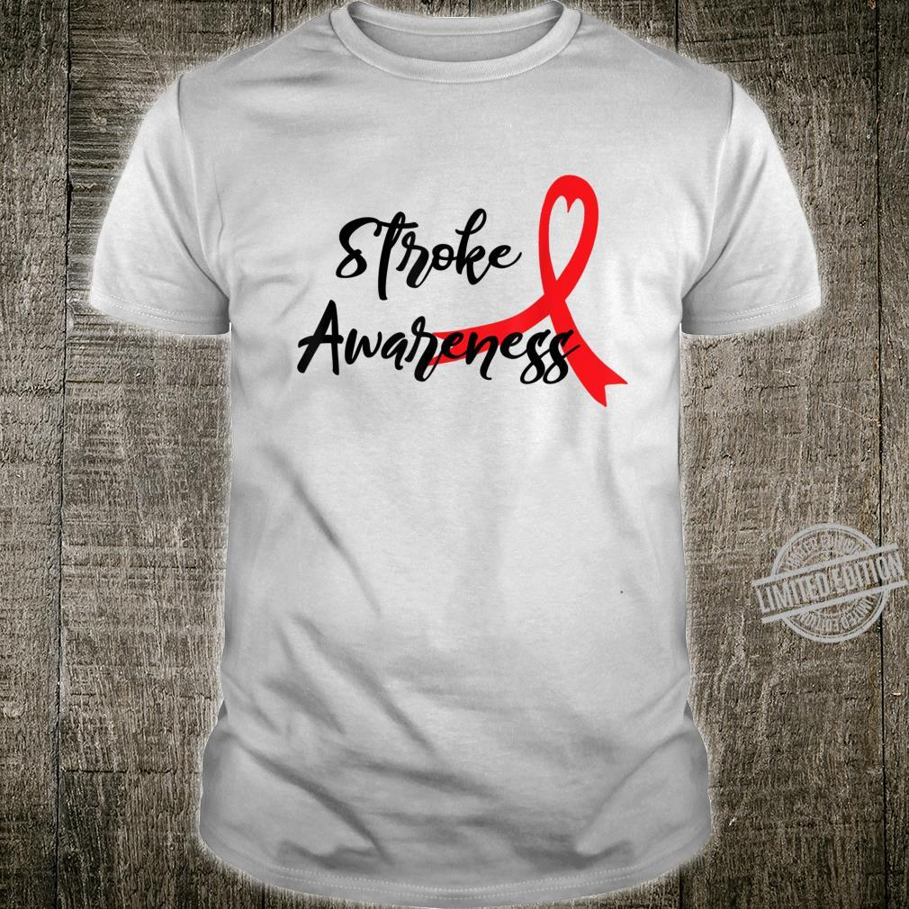 Heart Red Ribbon Outfits Stroke Awareness Shirt
