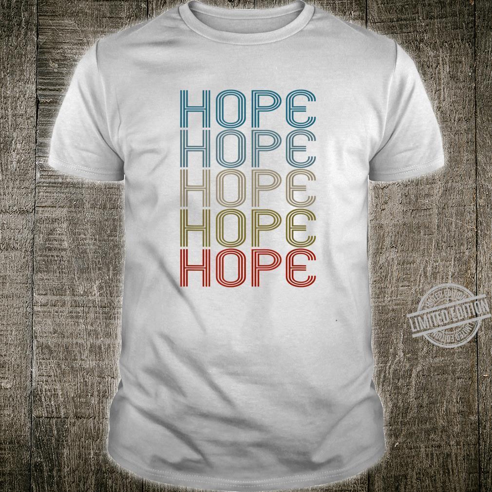 Hope First Name Vintage Retro Shirt
