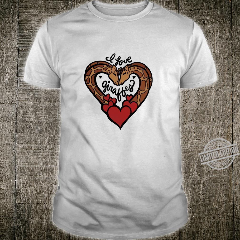 I love giraffes cute giraffe hearts designs Shirt
