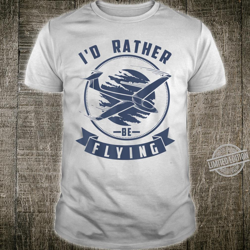I'd Rather Be Flying Cute Gliding Airplanes Shirt