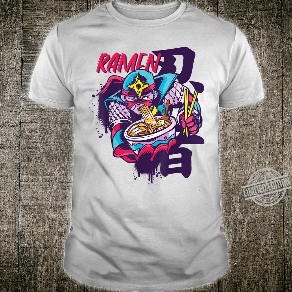 Kawaii Ramen Warrior Japanese Soup Art Shirt Boys Shirt