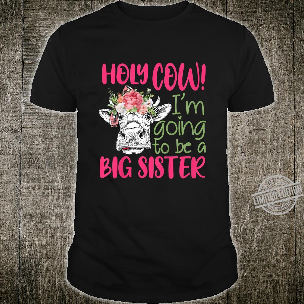 Kids Going To Be A Sister Farm Baby Sister Brother Reveal Shirt