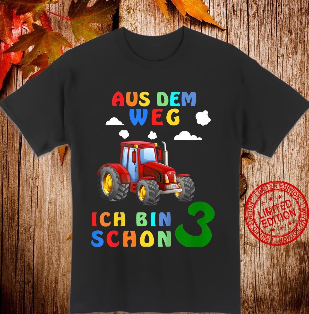 Kinder 3. Geburtstag Junge Ich bin schon 3 Jahre Traktor Trecker Shirt