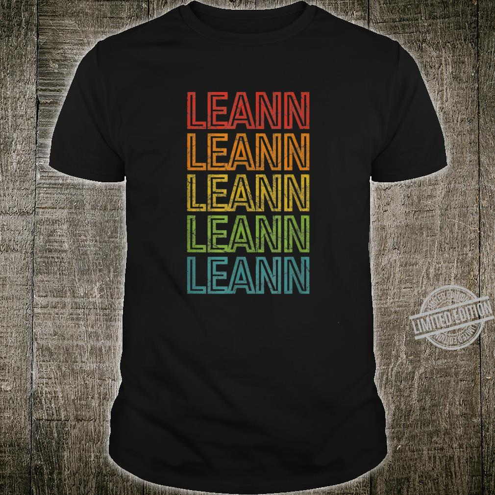 Leann First Given Name Vintage Shirt