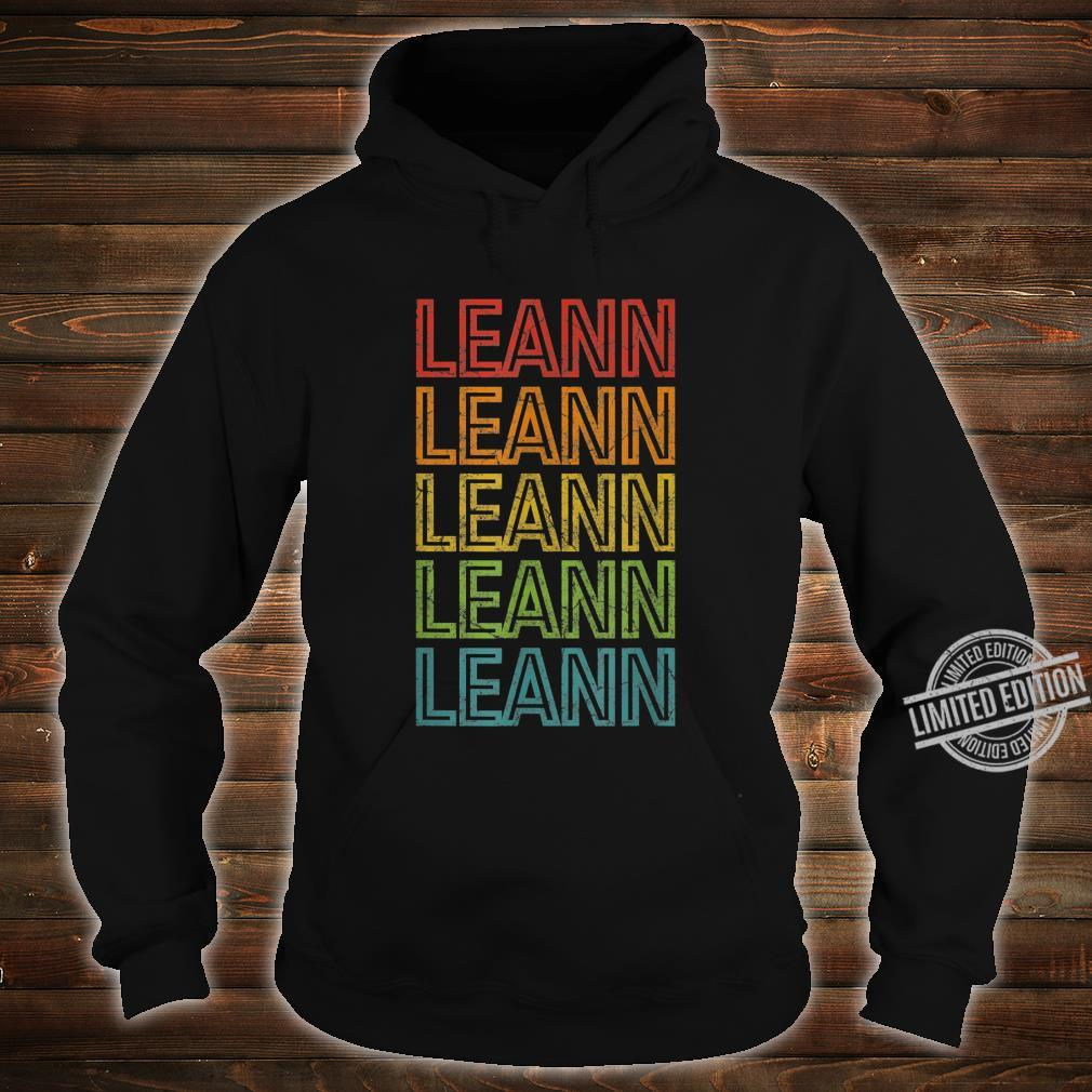 Leann First Given Name Vintage Shirt hoodie