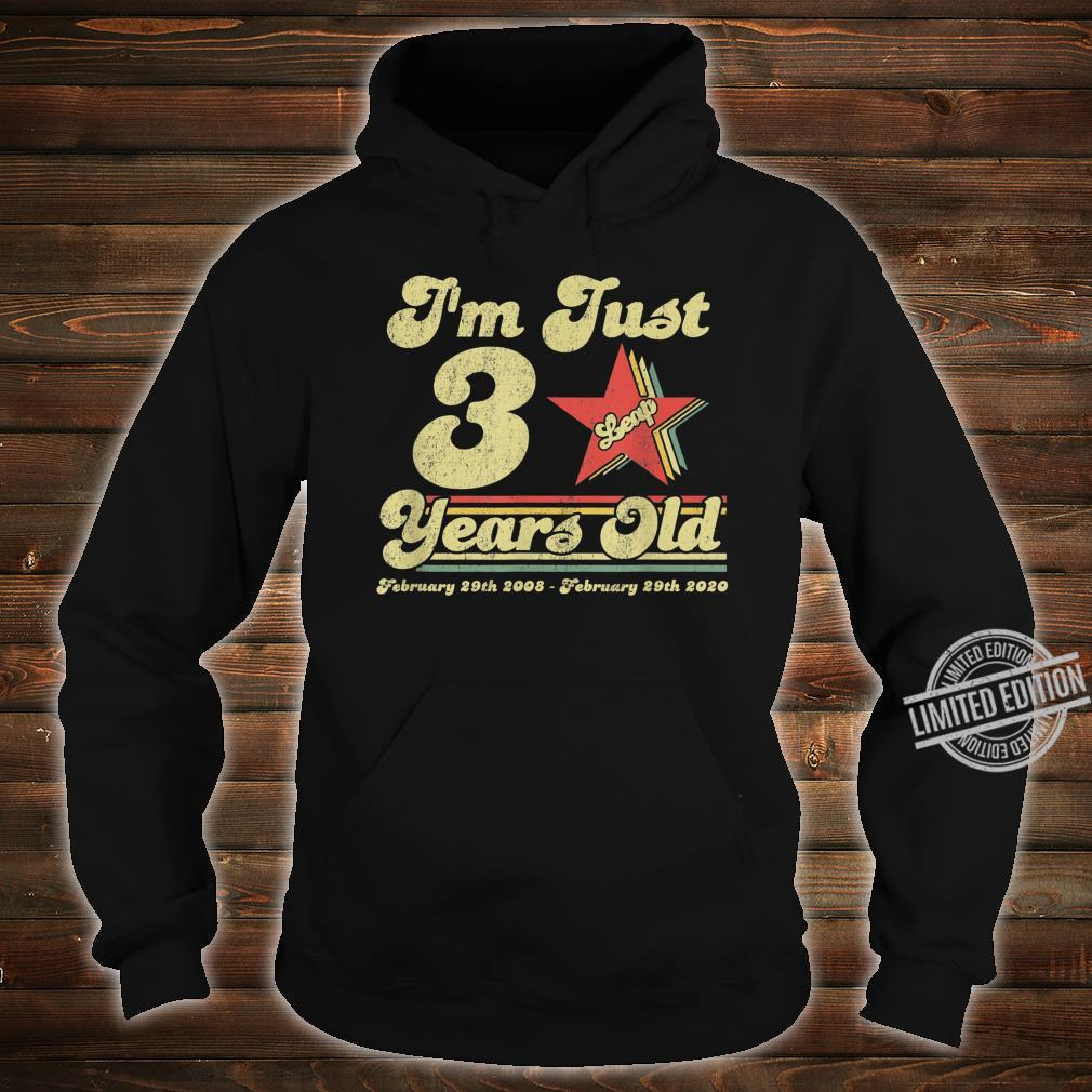 Leap Day Birthday 12 Years Old February 29th 2008 Shirt hoodie