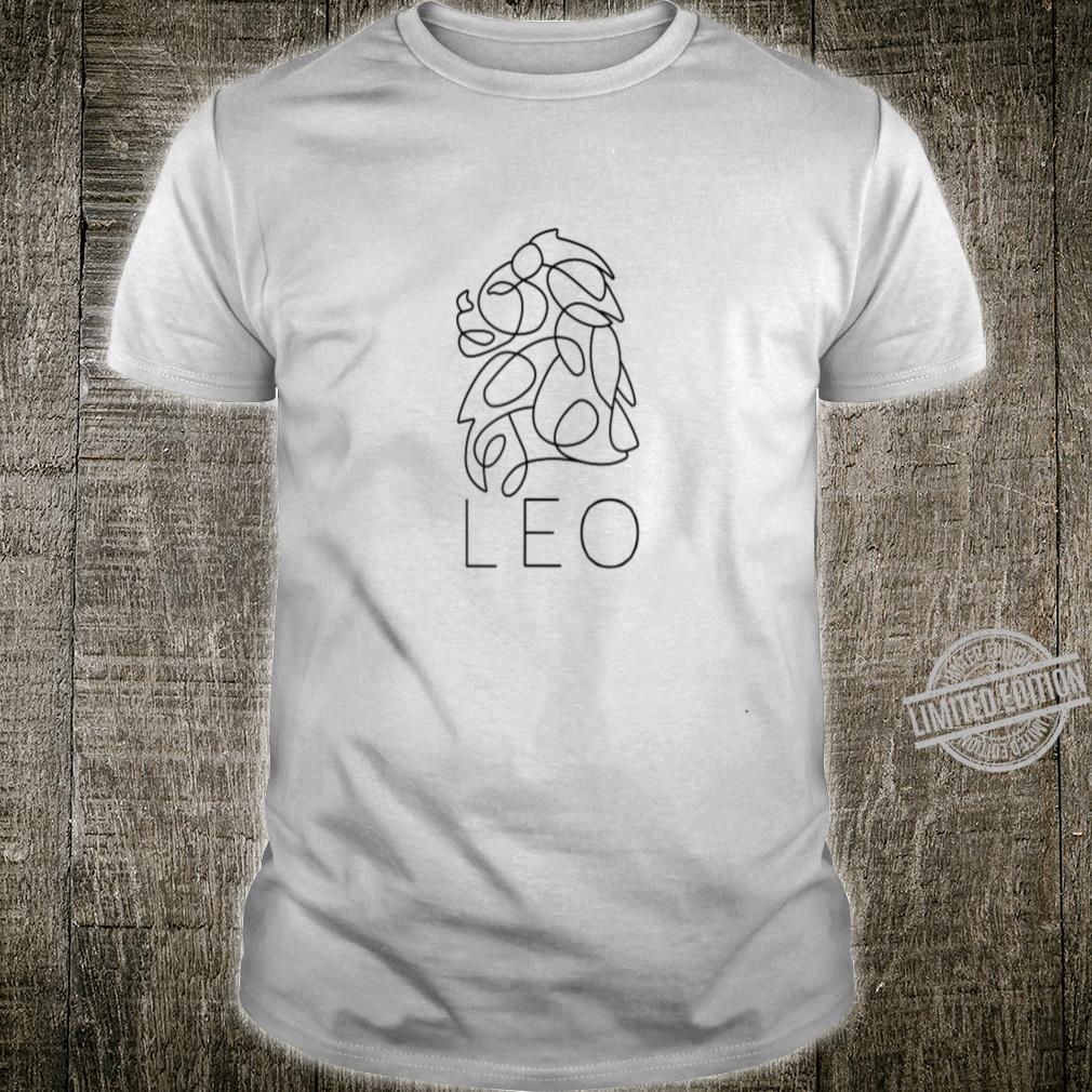 Leo, Zodiac Symbol, Astrological Sign, Continuous Line Art Shirt