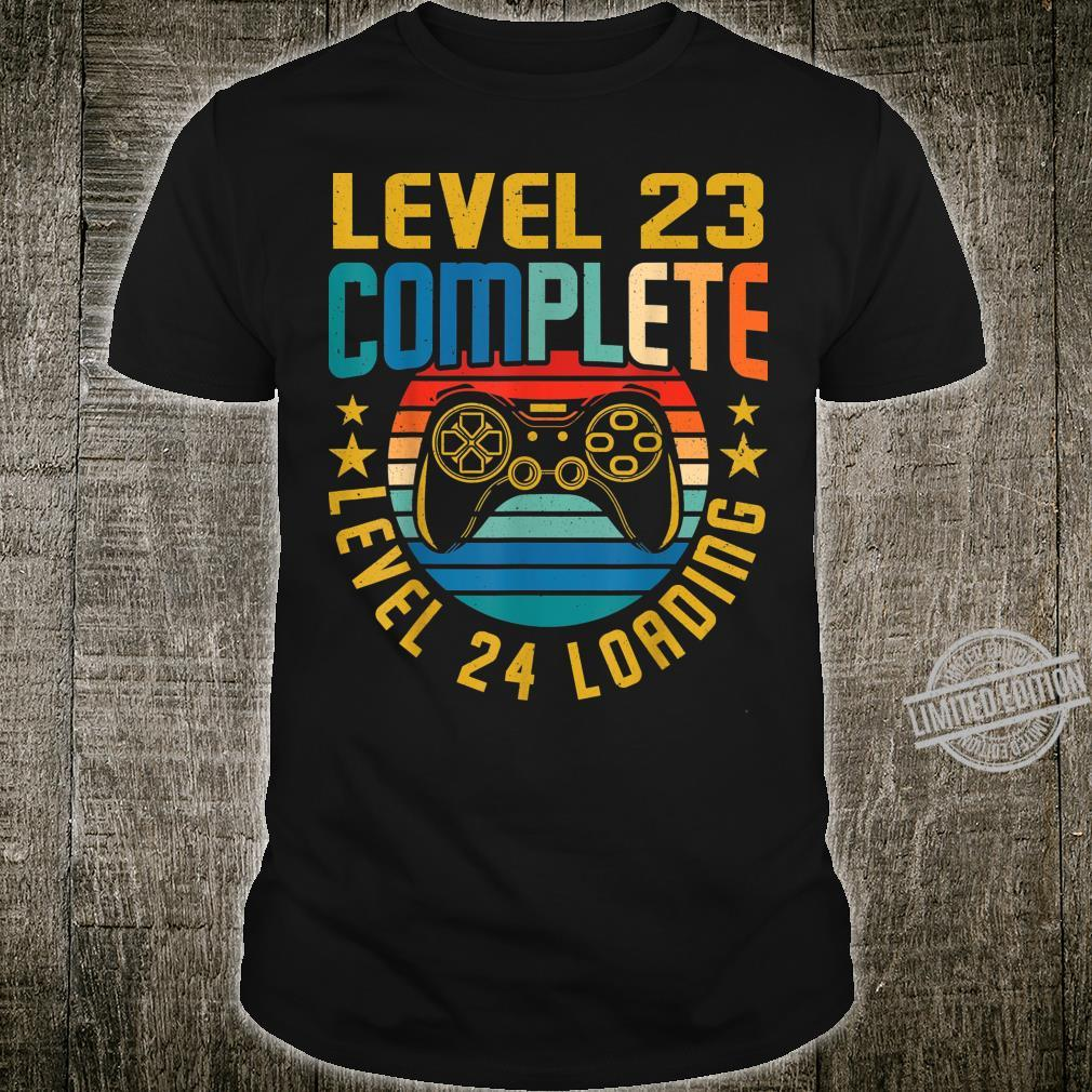 Level 23 Complete Level 24 Loading 23.Geburtstag Video Gamer Shirt