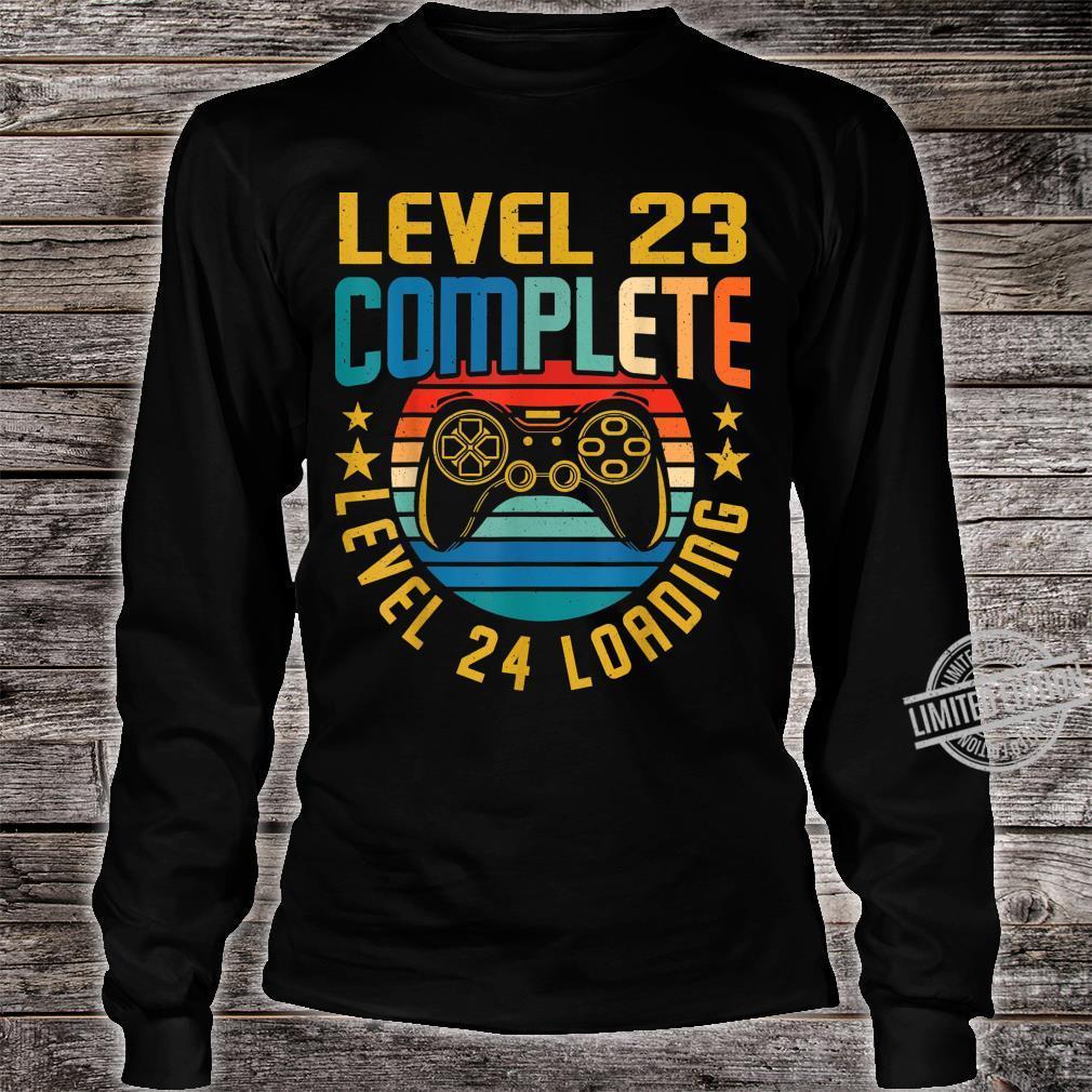 Level 23 Complete Level 24 Loading 23.Geburtstag Video Gamer Shirt long sleeved