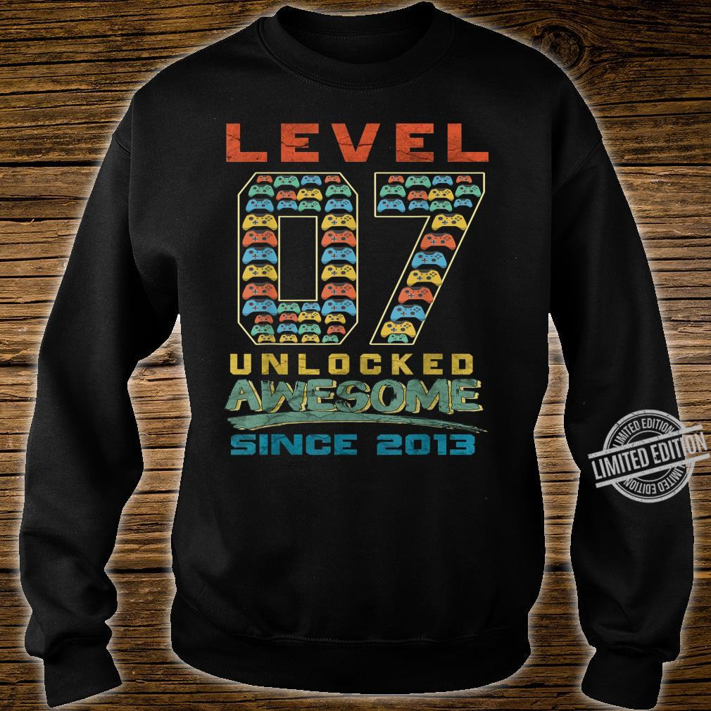 Level 7 Unlocked Awesome Since 2013 Gamer 7th Birthday Shirt sweater
