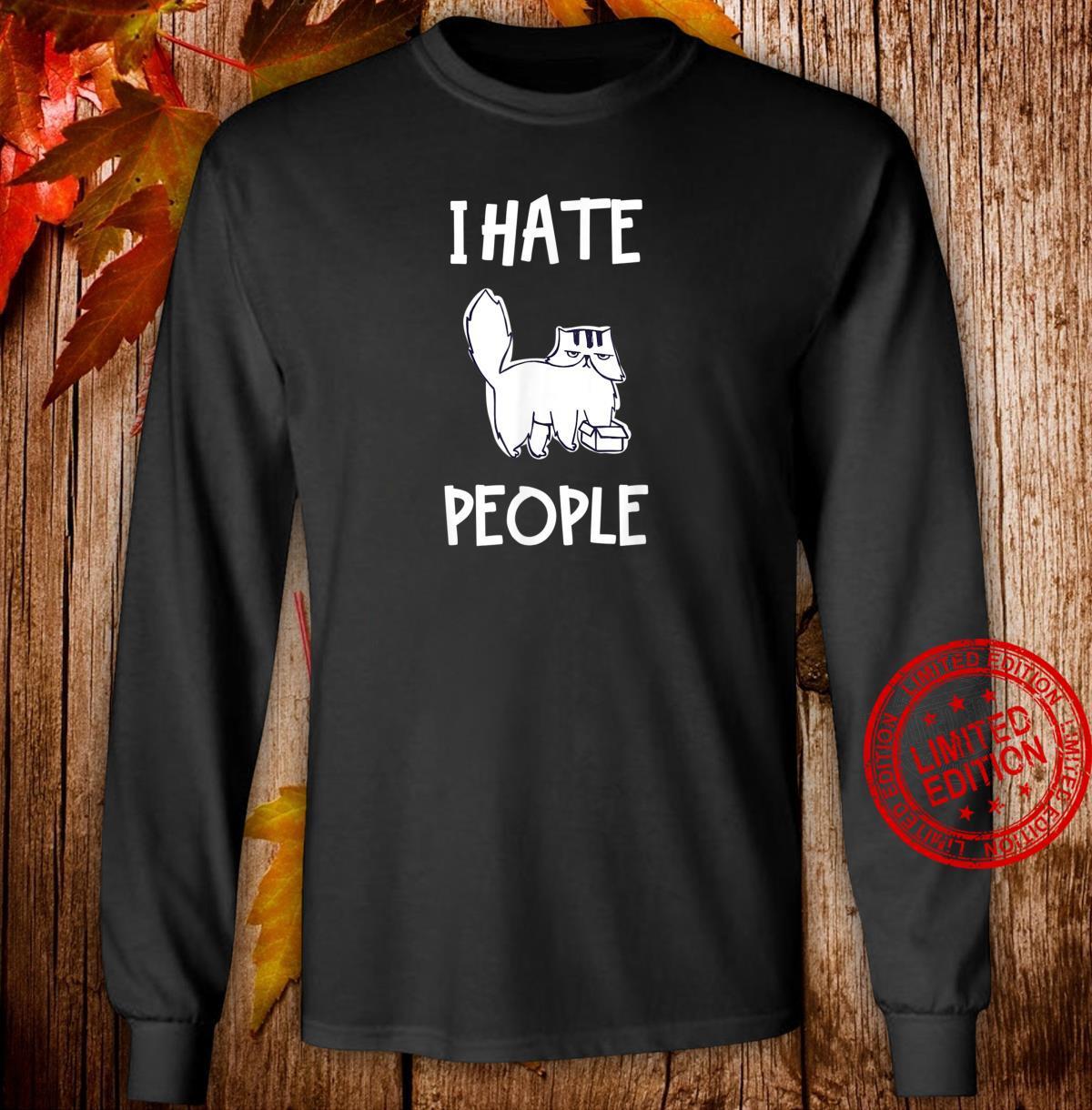 Lustiges Katzen Shirt long sleeved