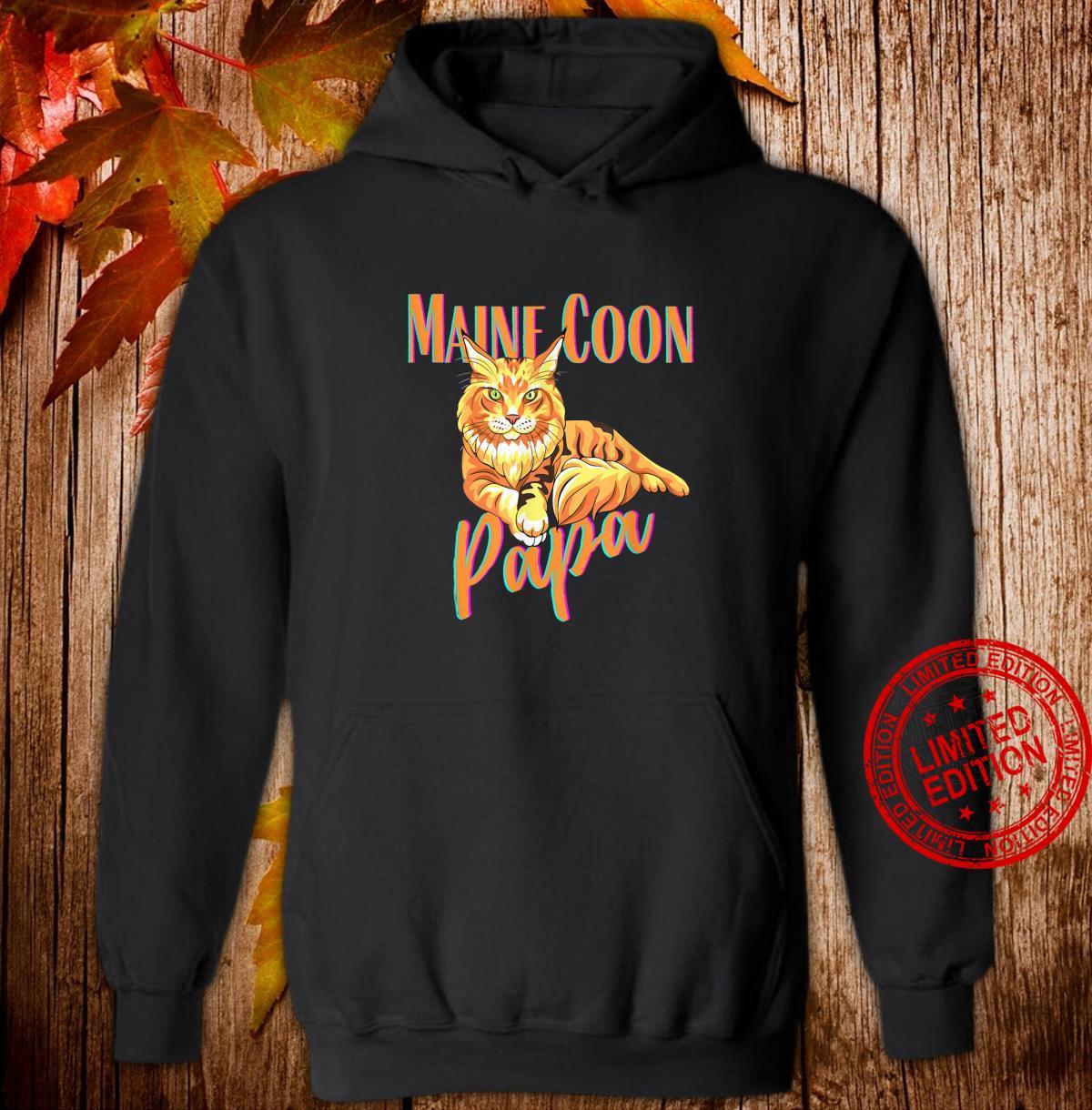 Maine Coon Papa Katzenfreunde Geschenk Shirt hoodie