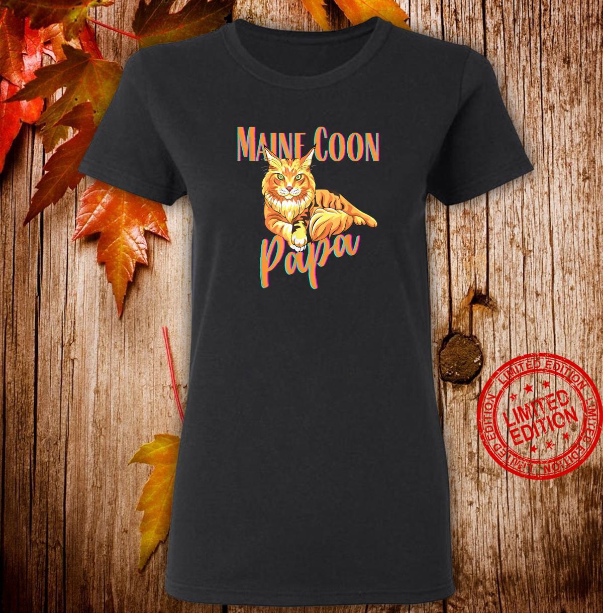 Maine Coon Papa Katzenfreunde Geschenk Shirt ladies tee