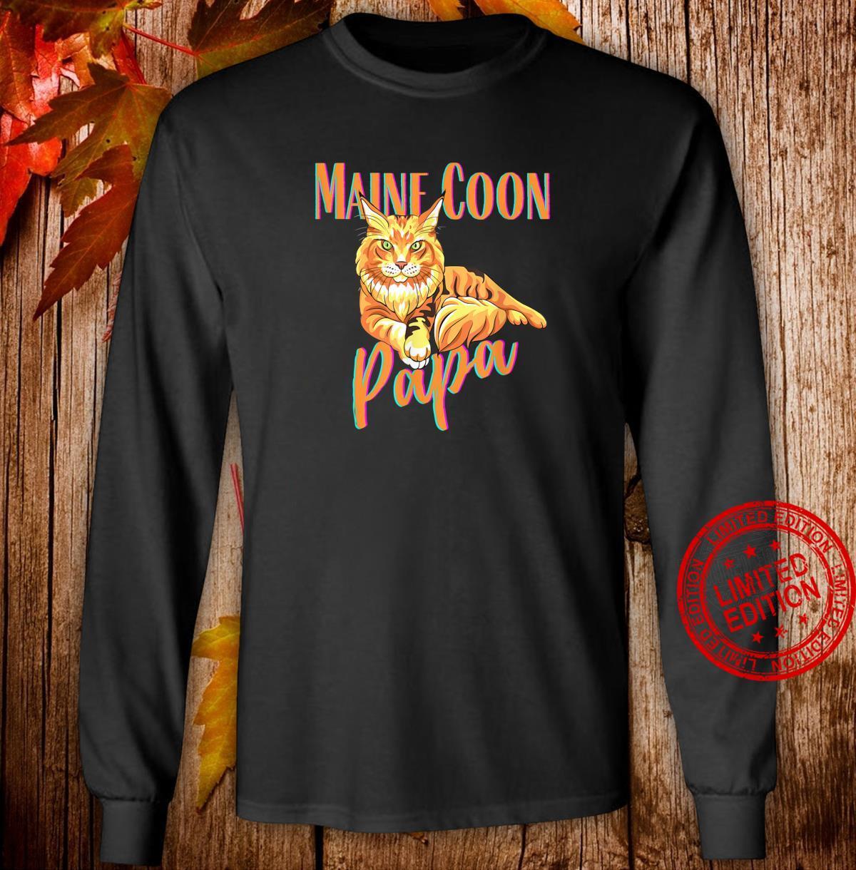 Maine Coon Papa Katzenfreunde Geschenk Shirt long sleeved
