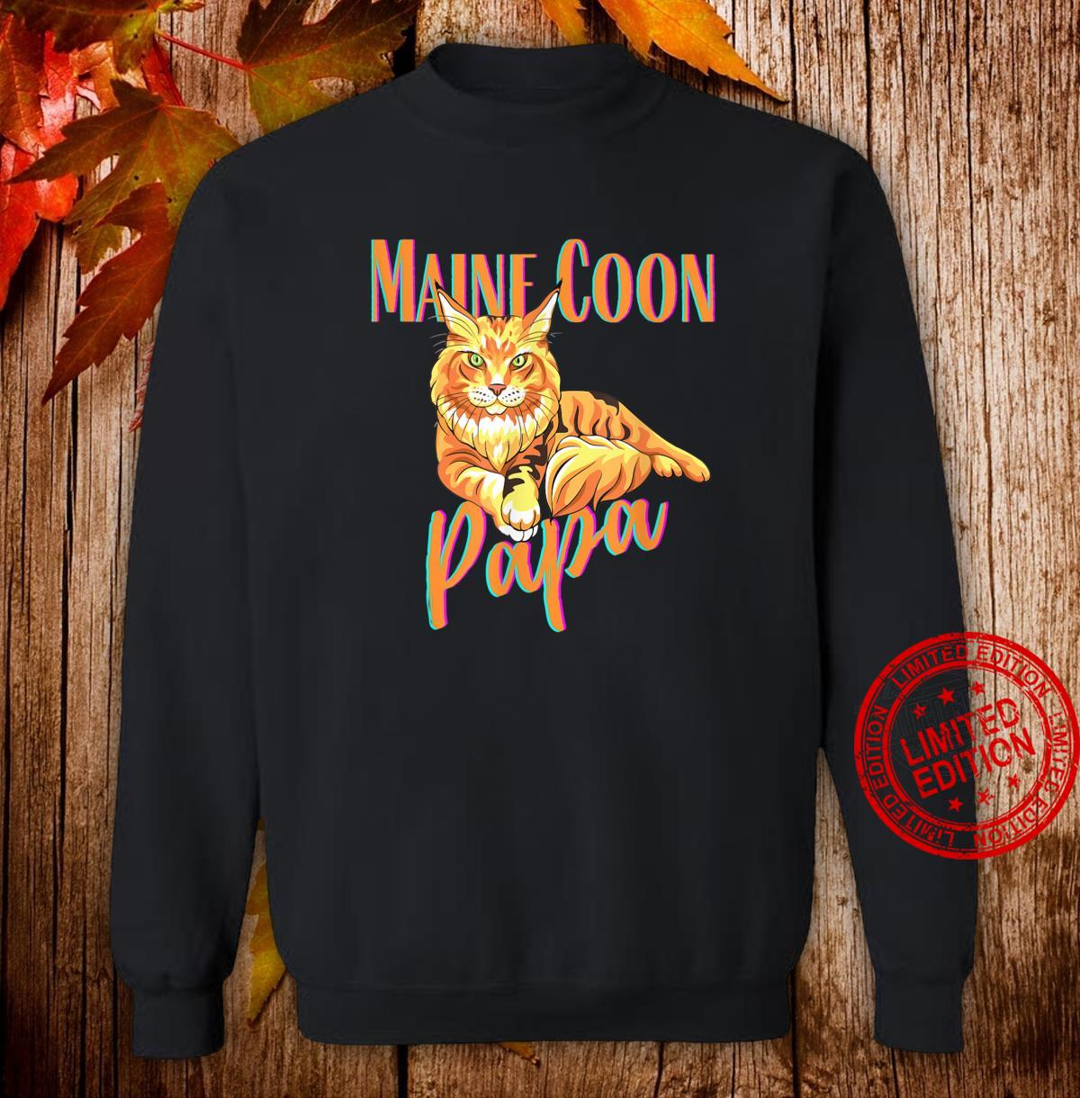 Maine Coon Papa Katzenfreunde Geschenk Shirt sweater