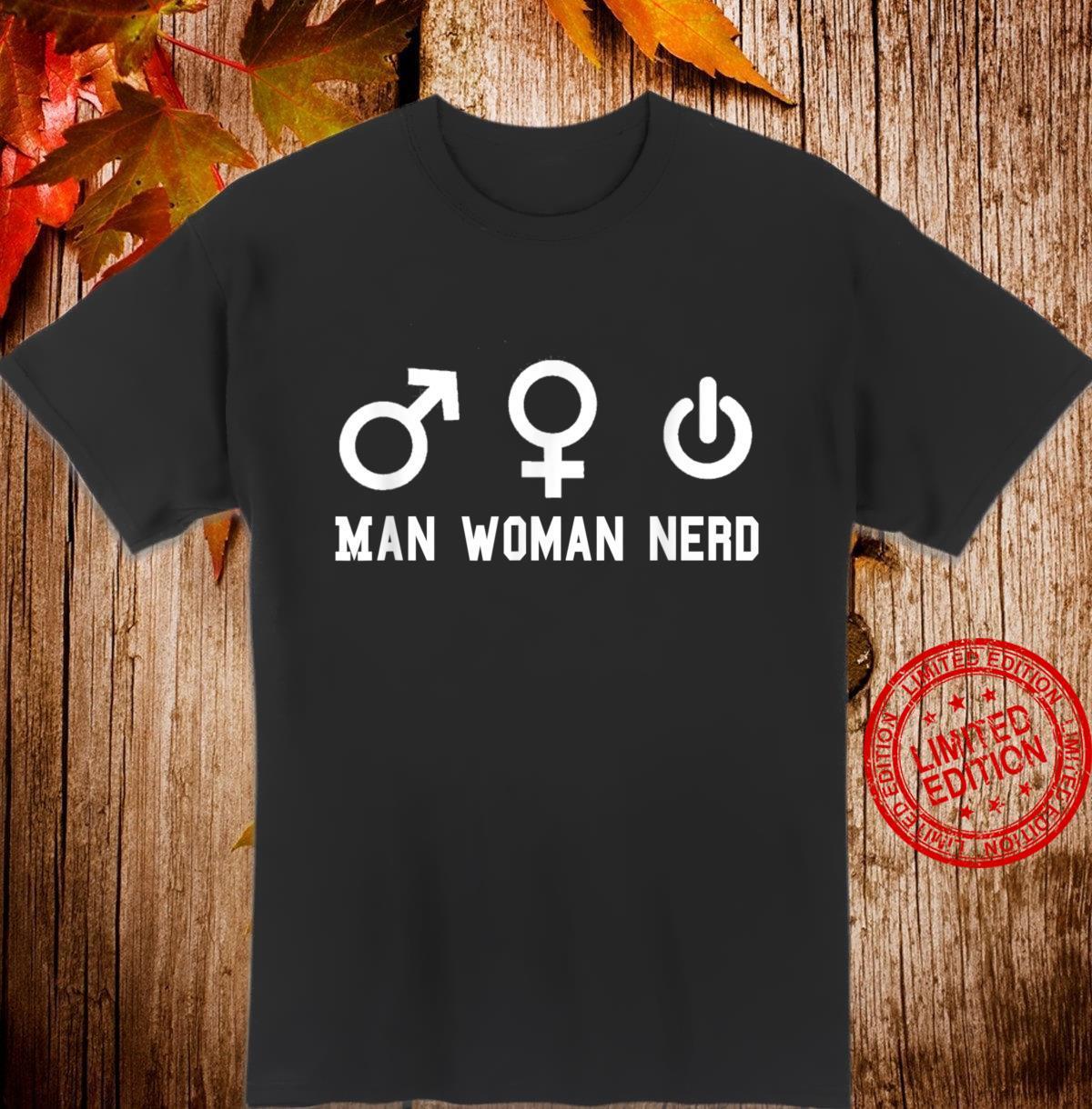 Man Nerd Science Shirt