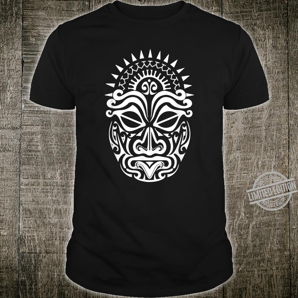 Maori Polynesian Tattoo HAKA Tanz Gesicht Maske Kopf Shirt