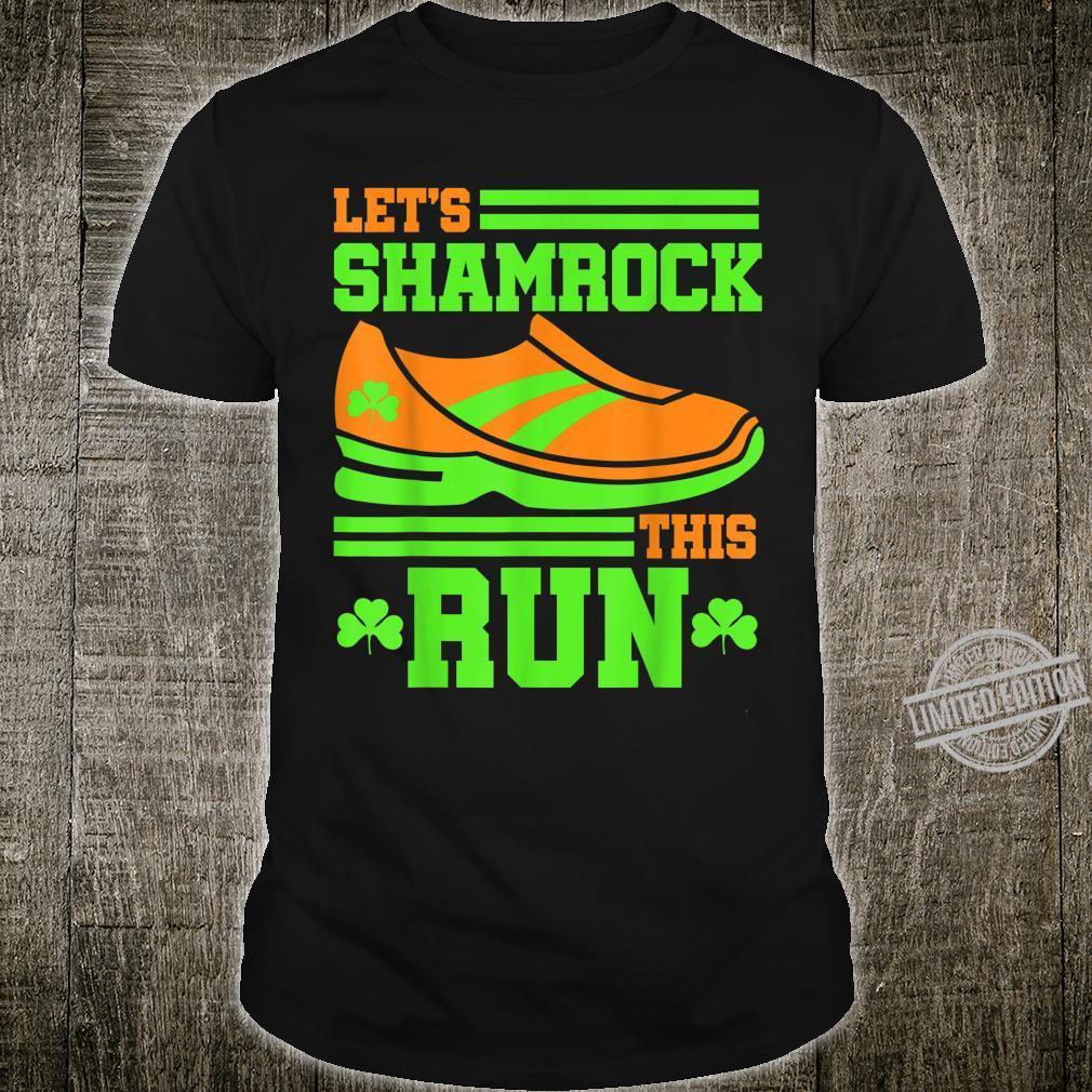 Marathon Runner St Patricks Day Running 5k 10k Half Race Shirt
