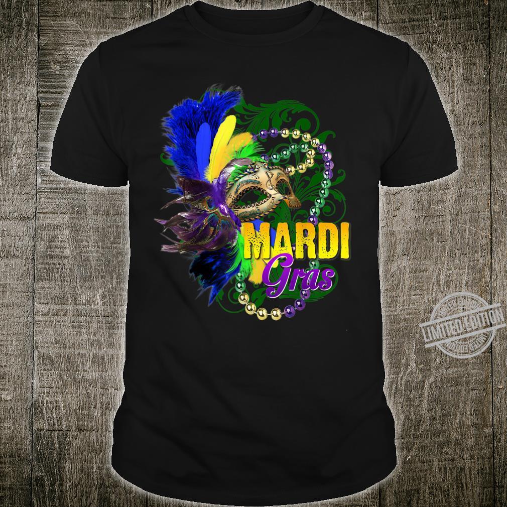 Mardi Gras Shirt 2020 Beads Mask Feathers New Orleans Shirt